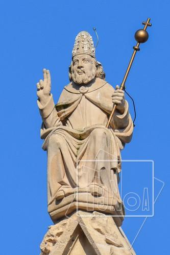 tekoaphotos,dieu,père,bénédiction,sceptre,statue,pinacle,cathédrale,saint,jean,lyon