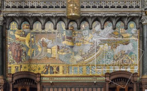 tekoaphotos,mosaïque,bataille,lépante,basilique,notre dame,fourvière,lyon