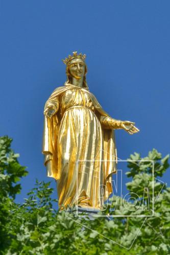 tekoaphotos,notre dame,fourvière,statue,dorée,vierge,lyon