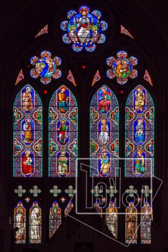 tekoaphotos,vitrail,verrière,prophètes,apôtres,église,saint nom,jésus,lyon