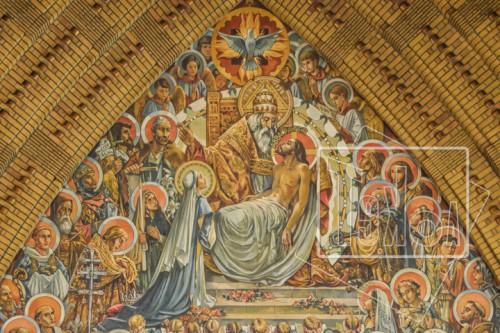 tekoaphotos,saints,témoins de la foi,trinité,fresque,choeur,église,notre dame de lourdes,la madeleine